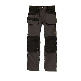 "Scruffs Trade Trousers Graphite Grey 38"" W 33"" L"