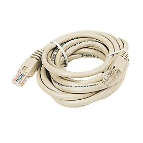 RJ45 Patch Lead 3.0m Beige Pack of 10