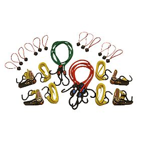 Thorsen Ratchet Tie-Down & Bungee Set 22 Pieces