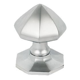 Door Knob Satin Chrome 75mm