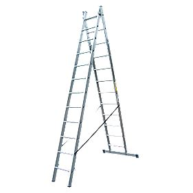 Lyte SF2CL12 Aluminium Alloy Combination Ladder 12 Rungs 6.08m