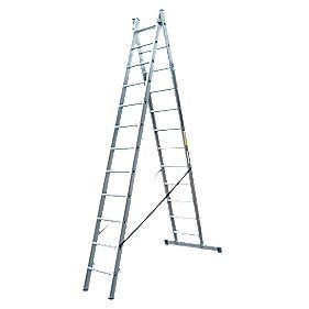 Lyte SF2CL12 Aluminium Alloy Combination Ladder 12 Rungs 6.08m