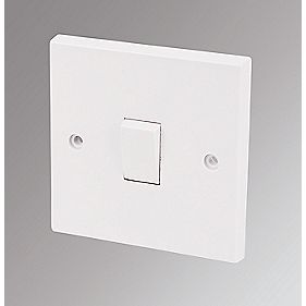 Marbo 1-Gang 1-Way 10AX Light Switch White