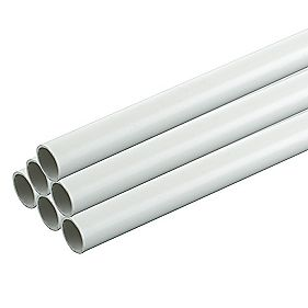 Tower Conduit Heavy Gauge 20mm x 3m White (60m) Pack of 20