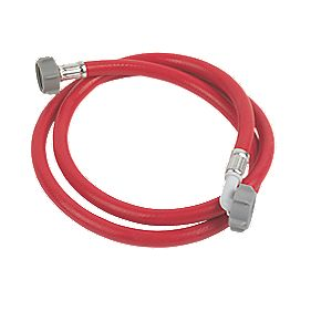 "Washing Machine Hose Red 1.5m x ¾"" BSP"