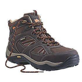 Hyena Ravine Waterproof Safety Boots Brown Size 10