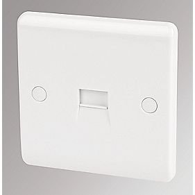 LAP 1-Gang Master Telephone Socket White