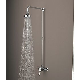 B and Q Colonial Thermostatic Mixer Shower Fixed Exposed Chrome