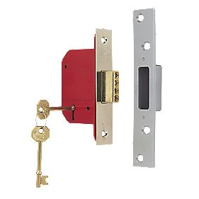 "ERA 5-Lever Mortice Deadlock Satin Nickel 2½"" / 64mm"