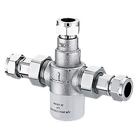 Franke Thermostatic 15mm Mixing Valve Chrome 142.5 x 40 x 103.5mm