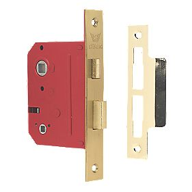 "Sterling Bathroom Mortice Lock Brass 3"" (76mm)"