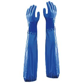 "Showa 690 Chemical Hazard 24"" Gauntlets Blue X Large"