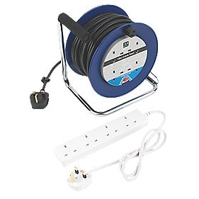Masterplug 4G Open Cable Reel 240V 15m