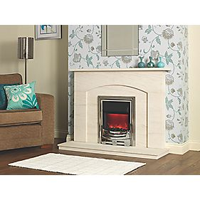 Be Modern Ava Fire Surround Limestone