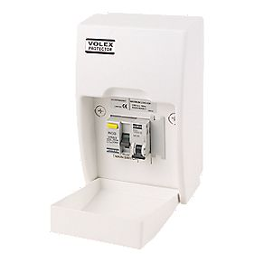 Volex Fully Insulated RCD Board Shower Unit 63A 30mA RCD
