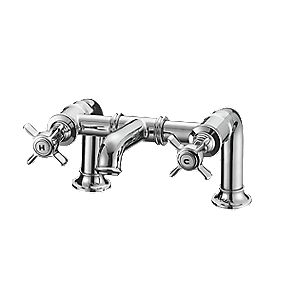 Fosse & Stratton Greenwich Bath Filler Bathroom Taps Pair