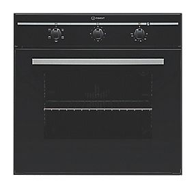 Indesit FIM21 KBBK Single Built-In Elec Conventional Oven Black 595 x 595mm