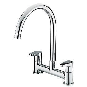 Bristan QST DSM C Quest Deck Sink Mixer Kitchen Tap Chrome