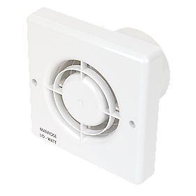 Manrose LW100H 10.77W LoWatt Axial B'room Extractor Fan w/Timer/Humidistat