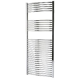 Kudox Curved Towel Radiator Chrome 600 x 1500mm 534W 1822Btu