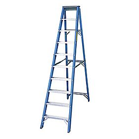 Lyte SFGSL10 Swingback Step Ladder Aluminium & Fibreglass 10-Tread 2.44m