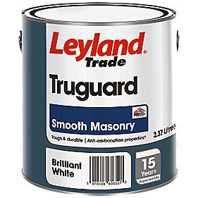 Leyland Trade Truguard Smooth Masonry Paint Brilliant White 2.5Ltr