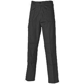 "Dickies Redhawk Action Trousers Black 40"" W 32"" L"