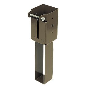 Concrete-In Post Supports 75 x 75mm Pack of 2