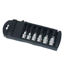 "Forge Steel Hex Metric Socket Set ½"" 6 Pieces"