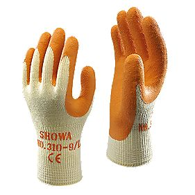 Showa 310 Original Builder's Gloves Orange X Large
