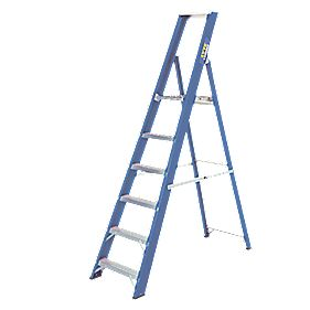 Lyte Heavy Duty Aluminium & Fibreglass Platform Ladder 6-Tread 1.9m