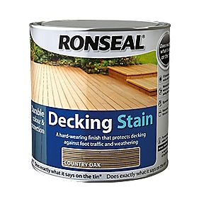 B and Q Decking Stain Country Oak 2.5Ltr