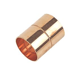Flomasta Straight Coupler End Feeds 28mm Pack of 2