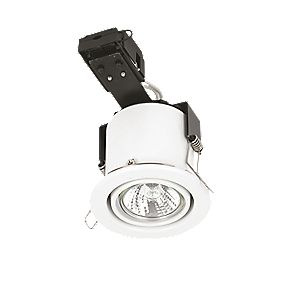 Sylvania Adjustable Round White Mains Voltage Fire Rated Downlight 240V