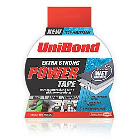 Unibond Power Tape Mesh Black 50mm x 25m