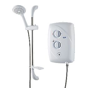 Triton T80 Easi-fit Manual Electric Shower White 9.5kW