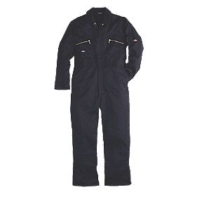 "Dickies Redhawk Zip Front Coverall Navy 44-46"" Chest 30"" L"