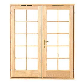 Jeld-Wen Rio 10-Light Glazed Hardwood French Door Oak Veneer 1790 x 2090mm