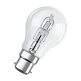 Osram Classic ECO Superstar GLS Halogen Lamp BC 77W