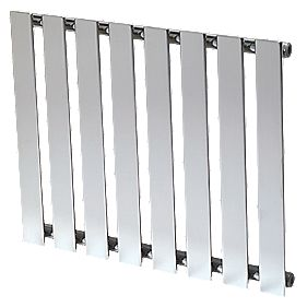 Reina Pienza Horizontal Designer Radiator Chrome 550 x 655mm 1283BTU