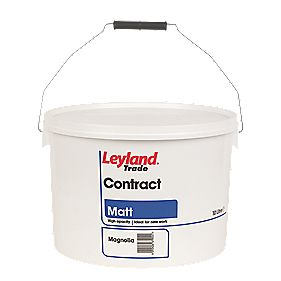 Leyland Contract Matt Magnolia 10Ltr