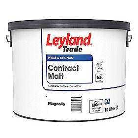 Leyland Trade Contract Matt Emulsion Paint Magnolia 10Ltr