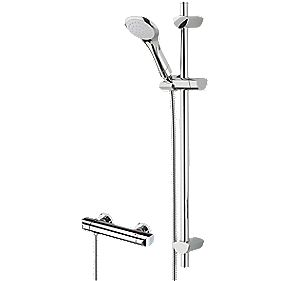 Bristan Orta Thermostatic Bar Mixer Shower Exposed Chrome