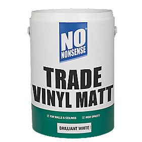 No Nonsense Trade Vinyl Matt Paint Brilliant White 5Ltr