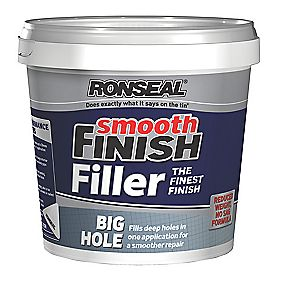 Ronseal Big Hole Ready Mixed Wall Filler White 1.2Ltr