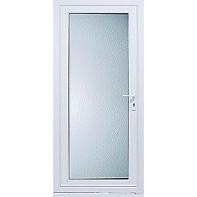 Patt 10 uPVC Back Door Translucent Glass LH 840 x 2085mm