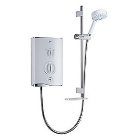 Mira Sport Multi-Fit Electric Shower White & Chrome 9.8kW
