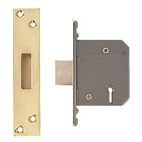 "Eclipse BS Ez-R 5-Lever Mortice Deadlock Polished Brass 2½"" (64mm)"