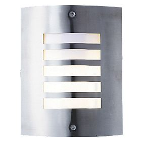 Masterlite Brushed Stainless Steel New York Wall Light