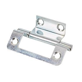 Double Cranked Hinge Zinc Plated 50 x 35mm Pack of 20